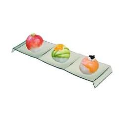 miniature Verrine set rectangulaire 3 compartiments