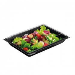 miniature Barquette salade rectangle Takipack + couvercle
