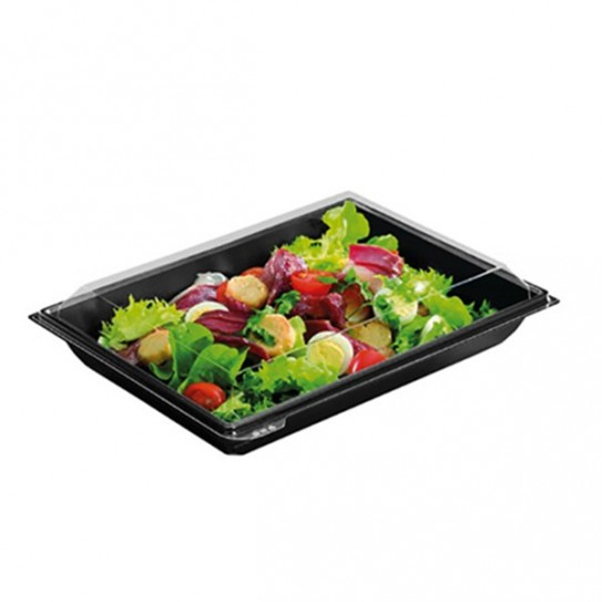 Barquette salade rectangle Takipack + couvercle