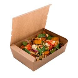 Bol Salade Carton Blanc + Couvercle