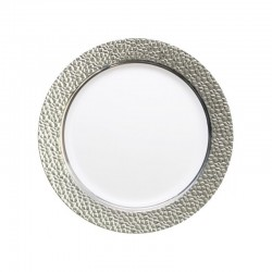 miniature Assiette plastique rigide ronde argent