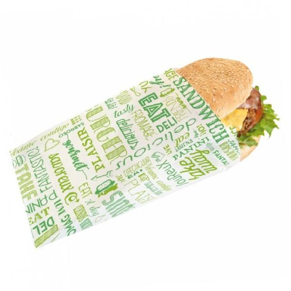 Sac Sandwich Papier Vert