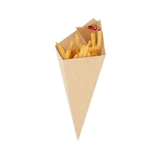 Cornet à frites carton kraft