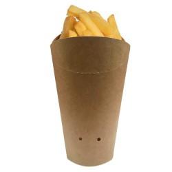 miniature Cornet de frite carton kraft rond