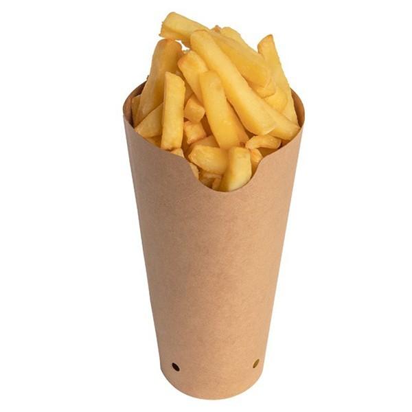 zoom Cornet de frite carton kraft rond