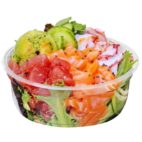 zoom Pot Rond Plastique Alimentaire