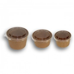 miniature Pot Carton Kraft Brun