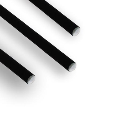 Pailles carton papier Noir