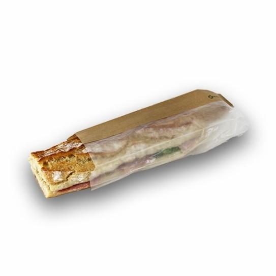 Sachet kraft fenêtre sandwich