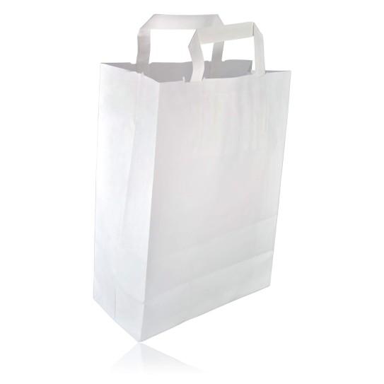 Sac Cabas Papier Kraft Blanc