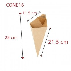 miniature Cornet de frites carton kraft