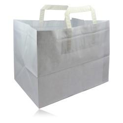 miniature Sac Cabas Papier Kraft Blanc