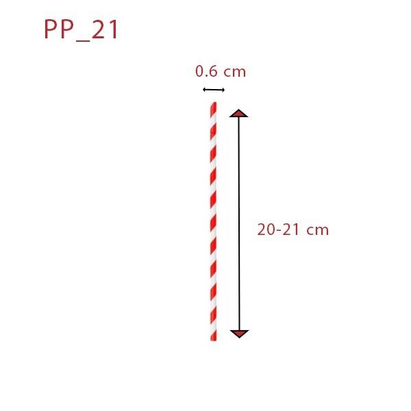 zoom Pailles carton rétro rouges