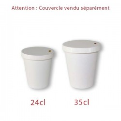 miniature Gobelet Carton Blanc