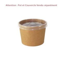 miniature Pot à Soupe Carton Kraft Brun
