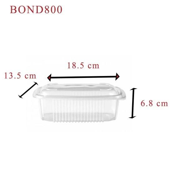zoom Barquette plastique Ondipack + couvercle