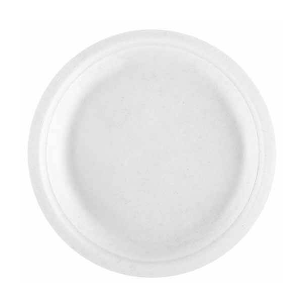 zoom Assiette Pulpe Ronde Blanche