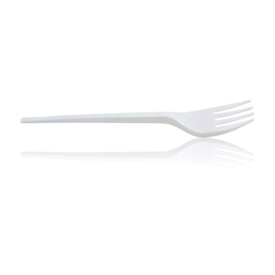 Fourchette Plastique Blanche