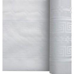 miniature Nappe Papier Damassé Blanc