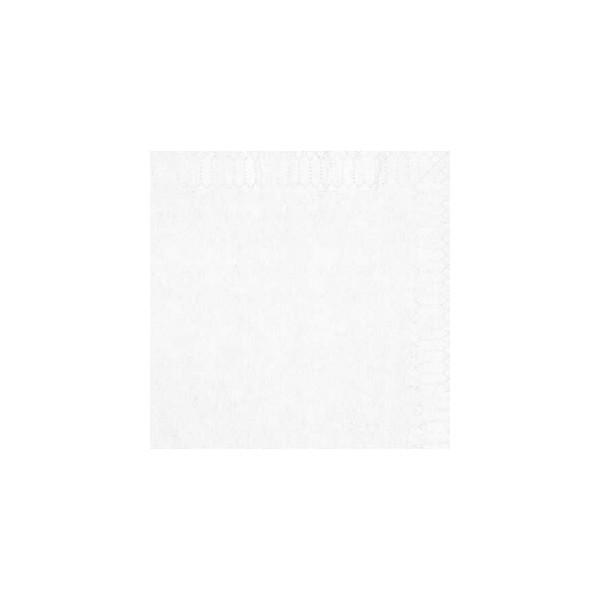 zoom Serviette 2 Plis 20 x 20 cocktail blanc