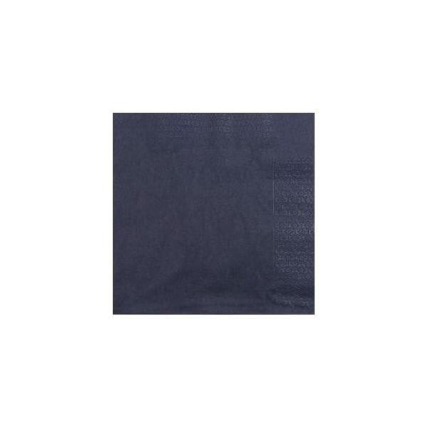 zoom Serviette 2 Plis 20x20 Noir