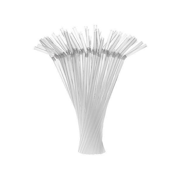 Pailles plastique PP Coudée