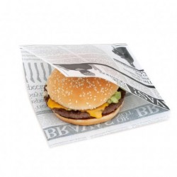miniature Sachet ingraissable ouvert burger Newspapers