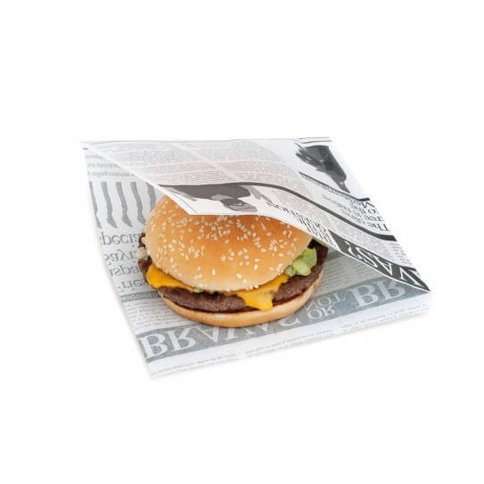Sachet ingraissable ouvert burger Newspapers
