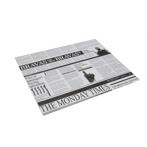 Papier ingraissable rectangle Newspaper