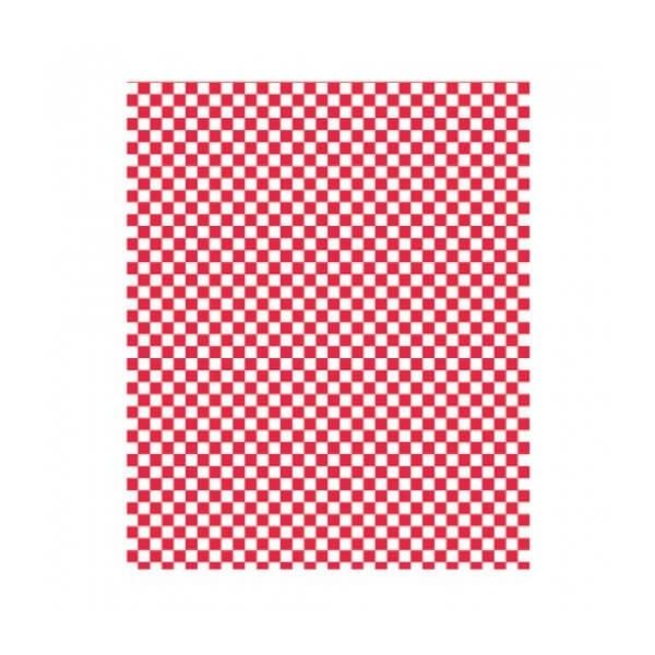 Papier ingraissable rectangle Damier