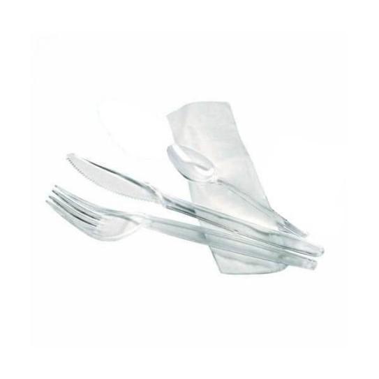 Kit Couverts Plastique 4 en 1 cristal