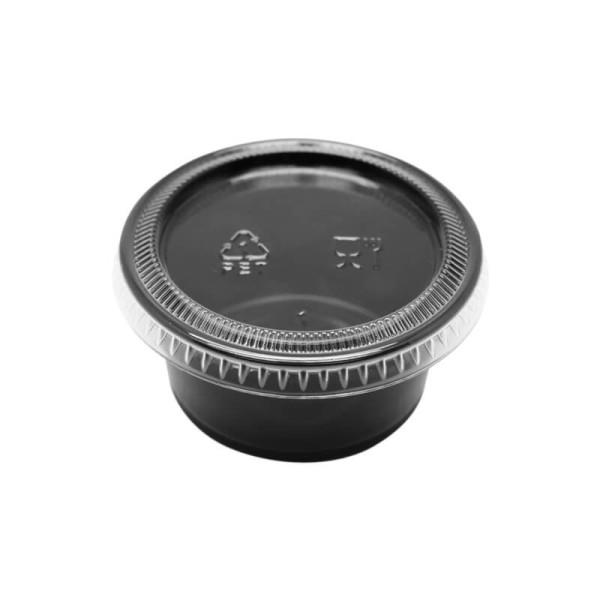 zoom Pot à Sauce Noir 6cl