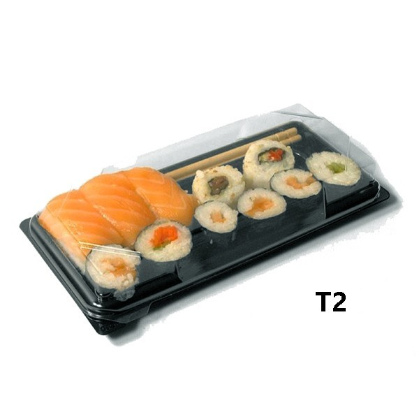 zoom Barquette Sushi + couvercle