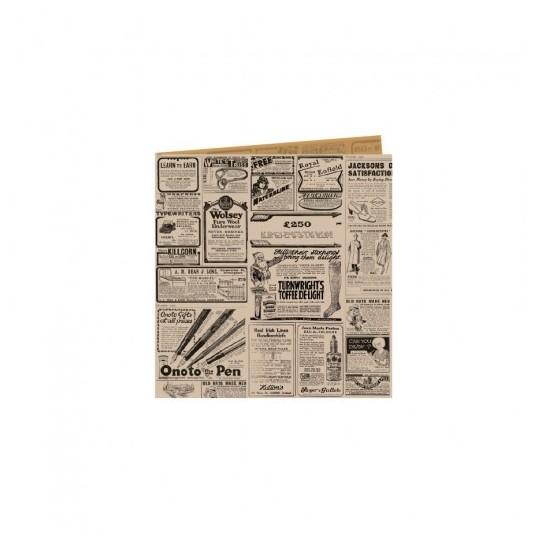Papier ingraissable ouvert rétro