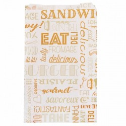 miniature Sac Sandwich Papier Orange