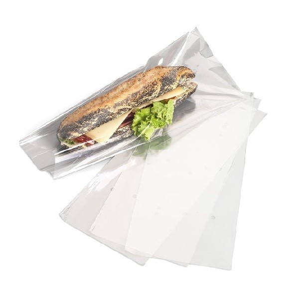 Sac Sandwich Transparent à Soufflet