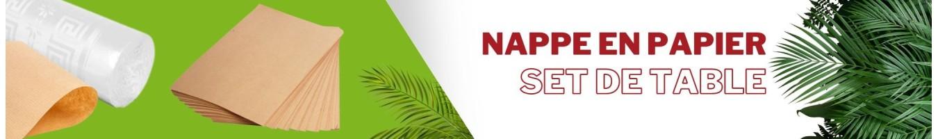 Nappe en papier pour la restauration et traiteurs - SML Food Plastic
