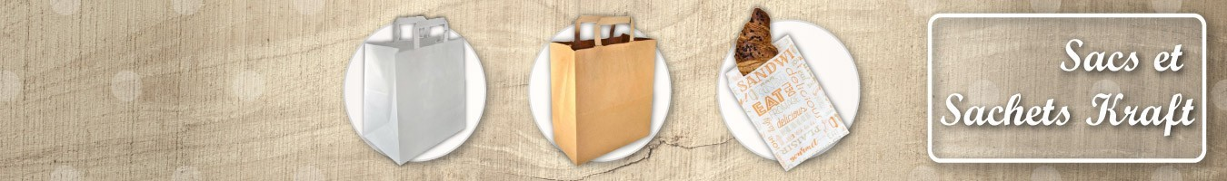 Sac Kraft et Sachet papier Kraft - SML Food Plastic