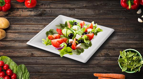 Assiette pulpe carrée