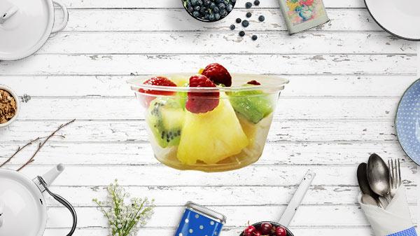 Pot à dessert en plastique