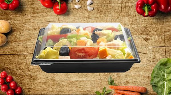 barquette noire salade