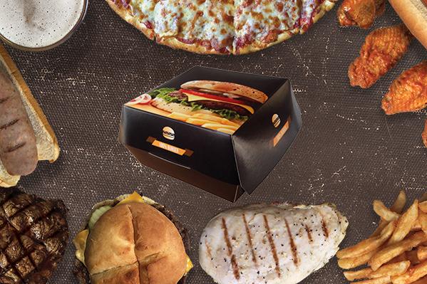 Boîte hamburger carton