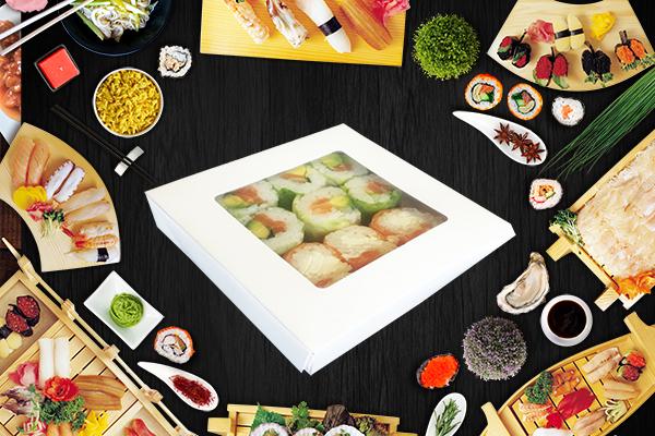 Barquette sushi carton