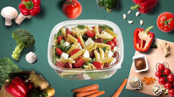 barquette salade plastique