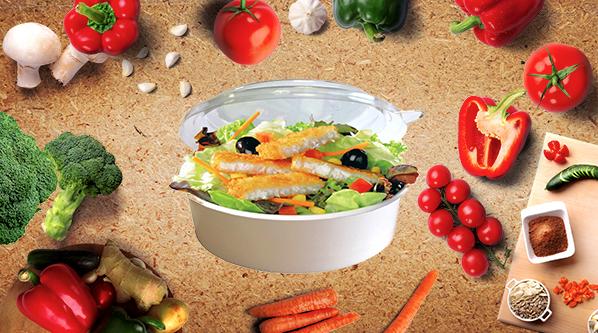 bol salade carton blanc