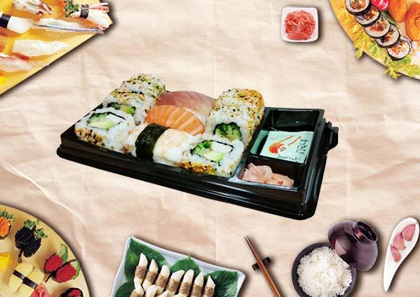 barquette sushi compartiment