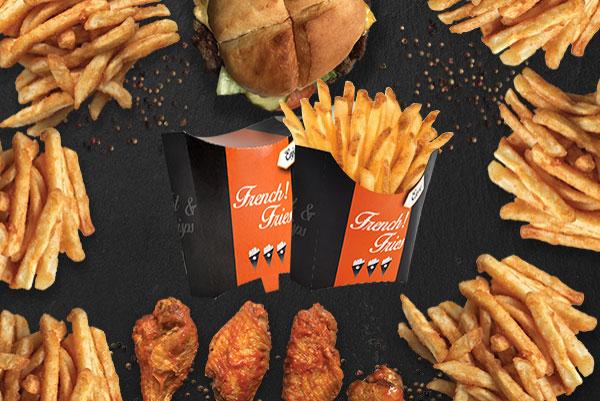 Pochette frite orange